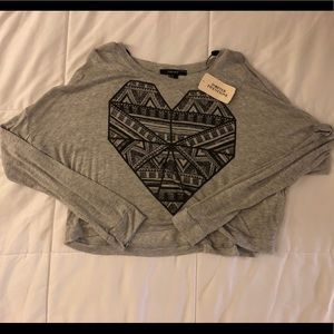 NEW Forever 21 cropped long sleeve